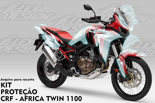 Template CRF Africa Twin 1100  - vetor