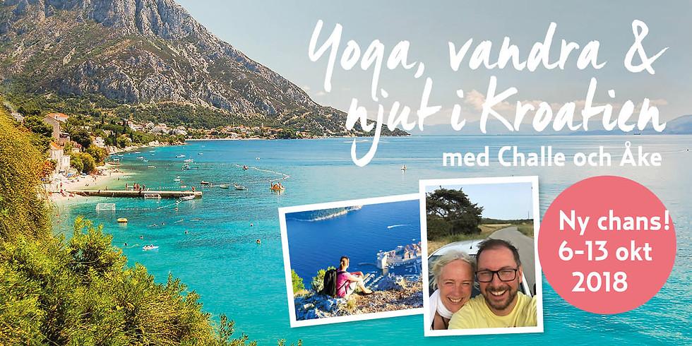Yoga, vandra, och njut i Kroatien 6-13 okt  2018