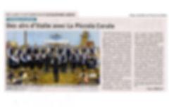 La Piccola Corale. Le Dauphiné Libéré. 2