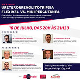 URETERORRENOLITOTRIPSIA FLEXÍVEL VS. MINI PERCUTÂNEA
