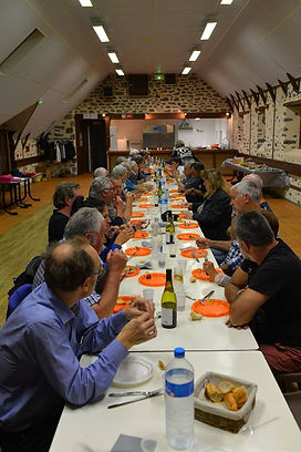 Repas des bénévoles à Marcenat