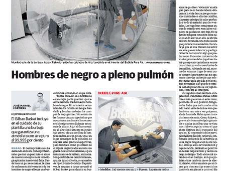 Sport Studio dona la Bubble pure air a la fundacion bilbao basket
