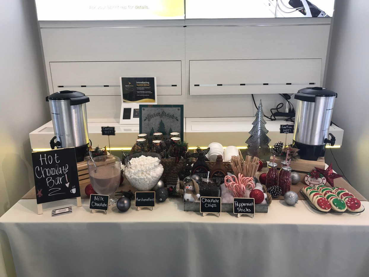 Holiday Hot Chocolate Buffet for Sprint
