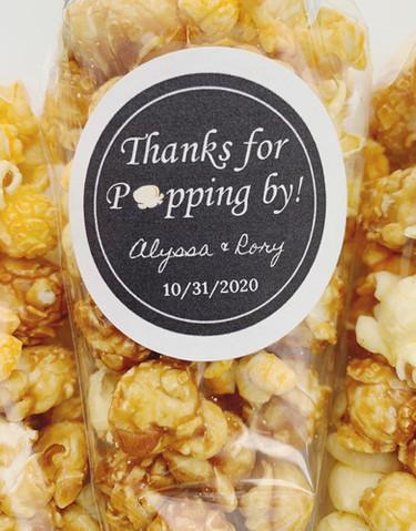 Wedding Popcorn Favors