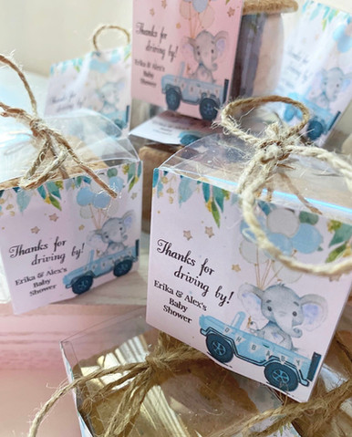 Drive-by baby shower s'more favors