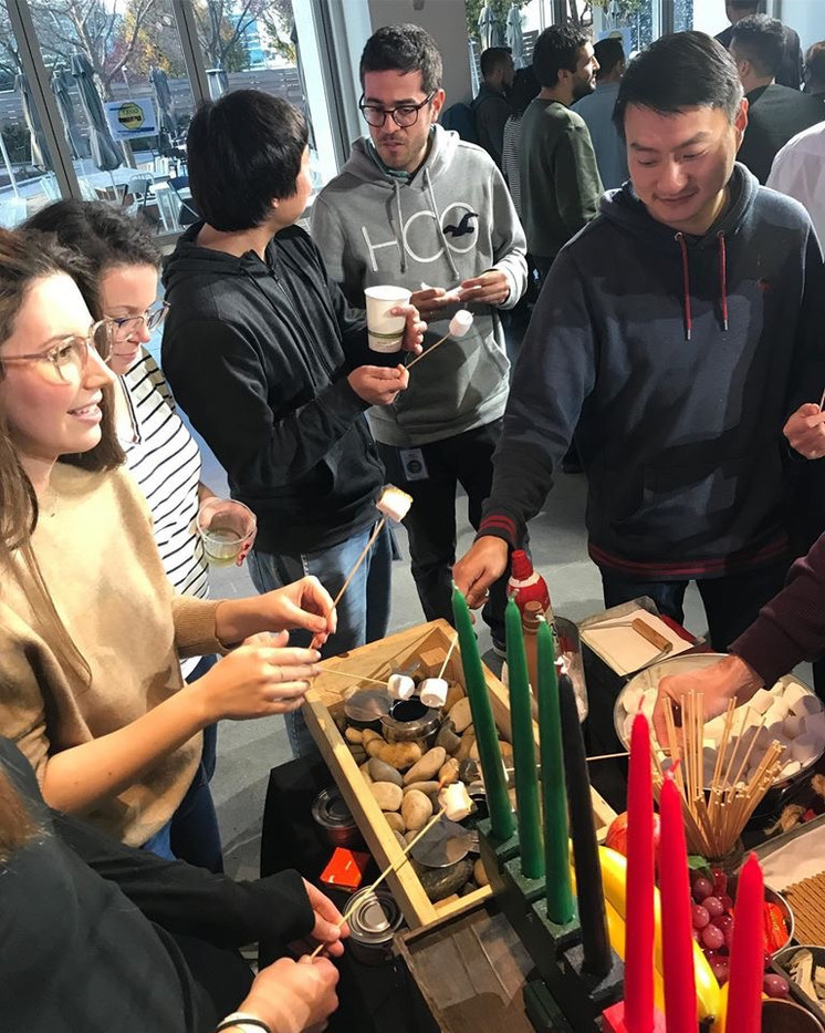 Multi-cultural hot chocolate & s'mores buffet for Instagram