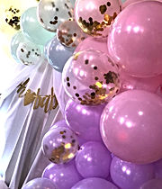 Gender reveal backdrop and balloon garla
