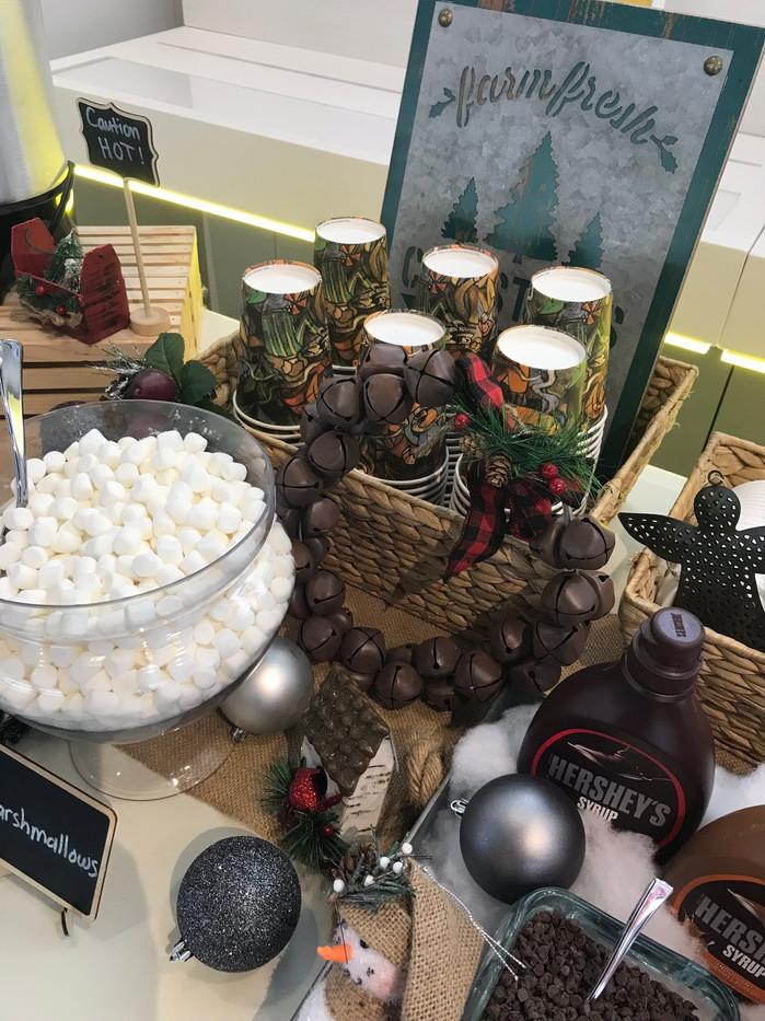 Holiday Hot Chocolate Buffet