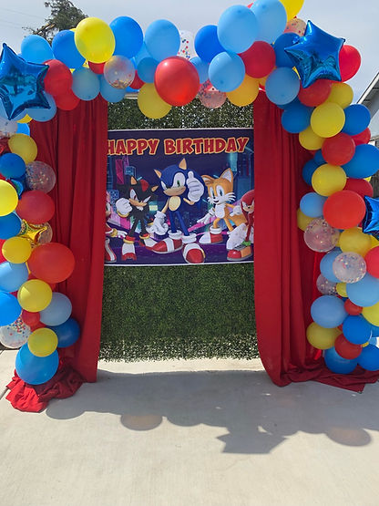Sonic the Hedgehog Balloon Garland