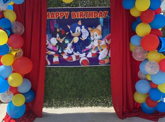 "Sonic the Hedgehog Full ""U"" Balloon Garland"