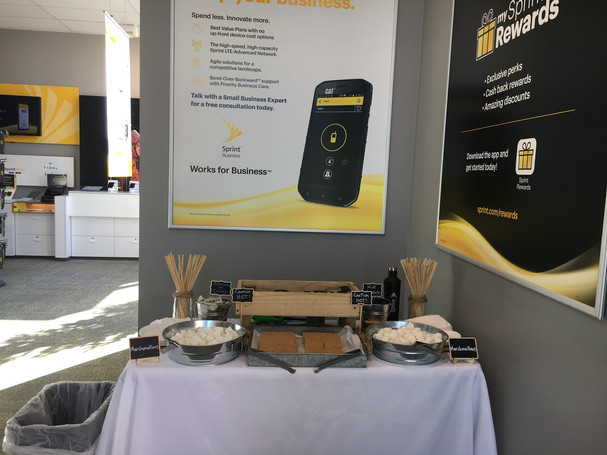 S'mores Buffet for Sprint