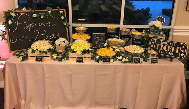 Movie Themed Wedding Popcorn Buffet