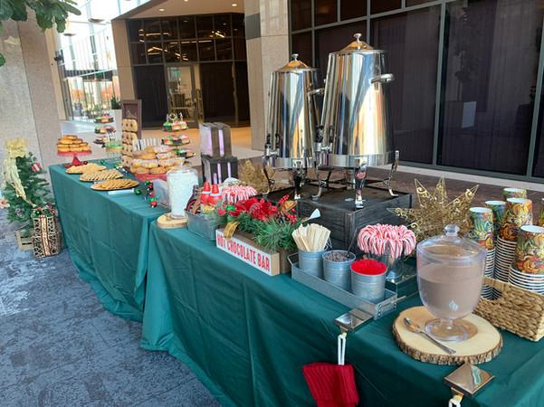 Holiday Dessert and Hot Chocolate Buffet