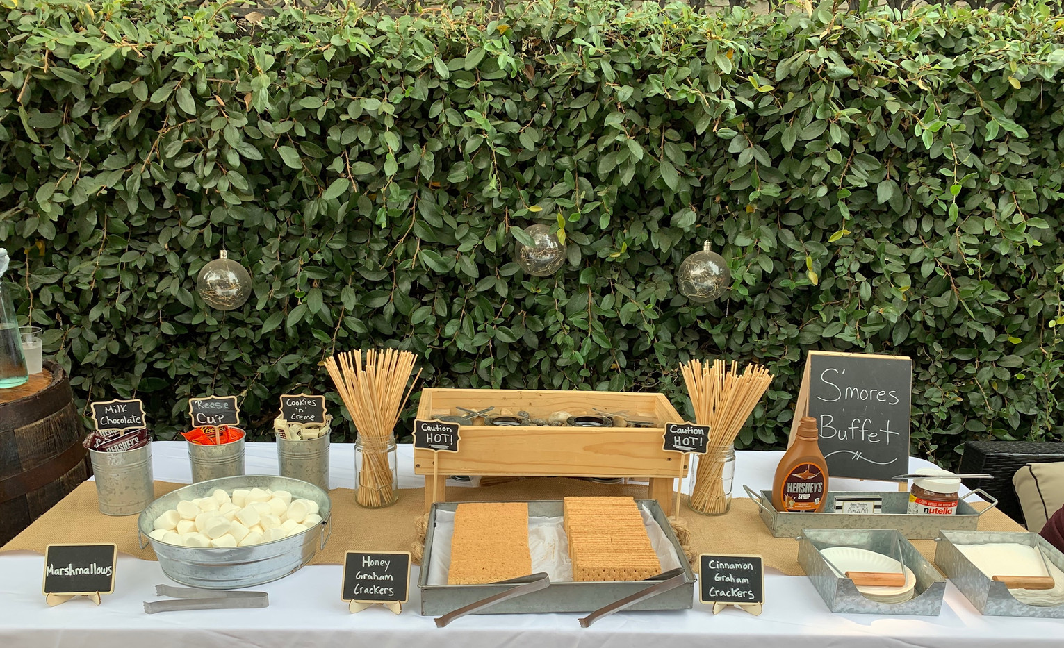 Bridal Shower S'mores Buffet
