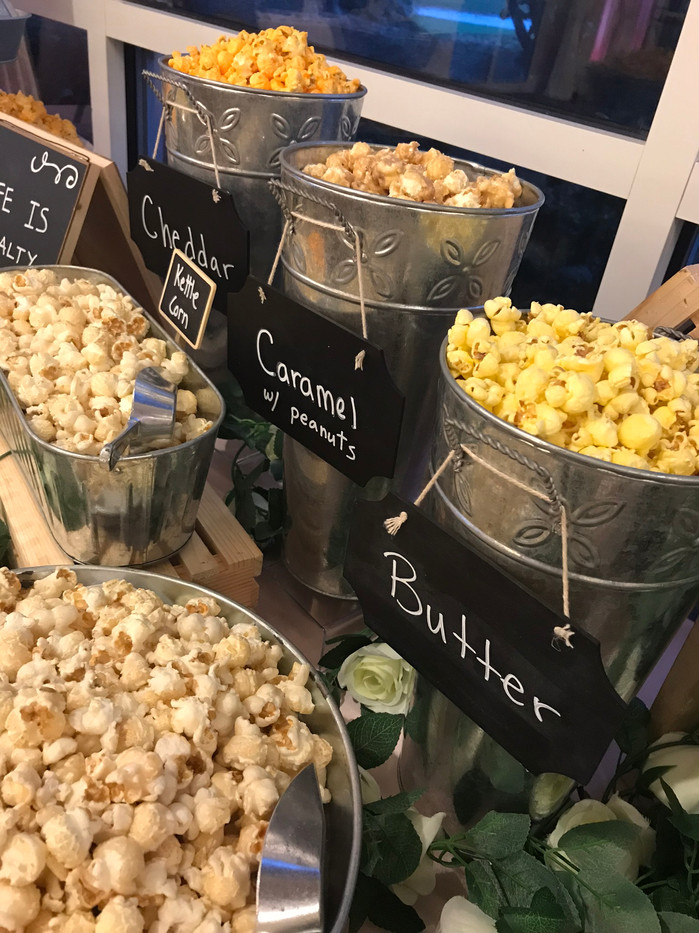 Movie Themed Wedding Popcorn Buffet