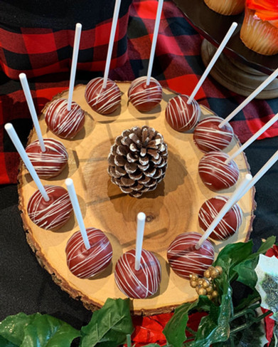 Cozy themed hot chocolate & dessert buff