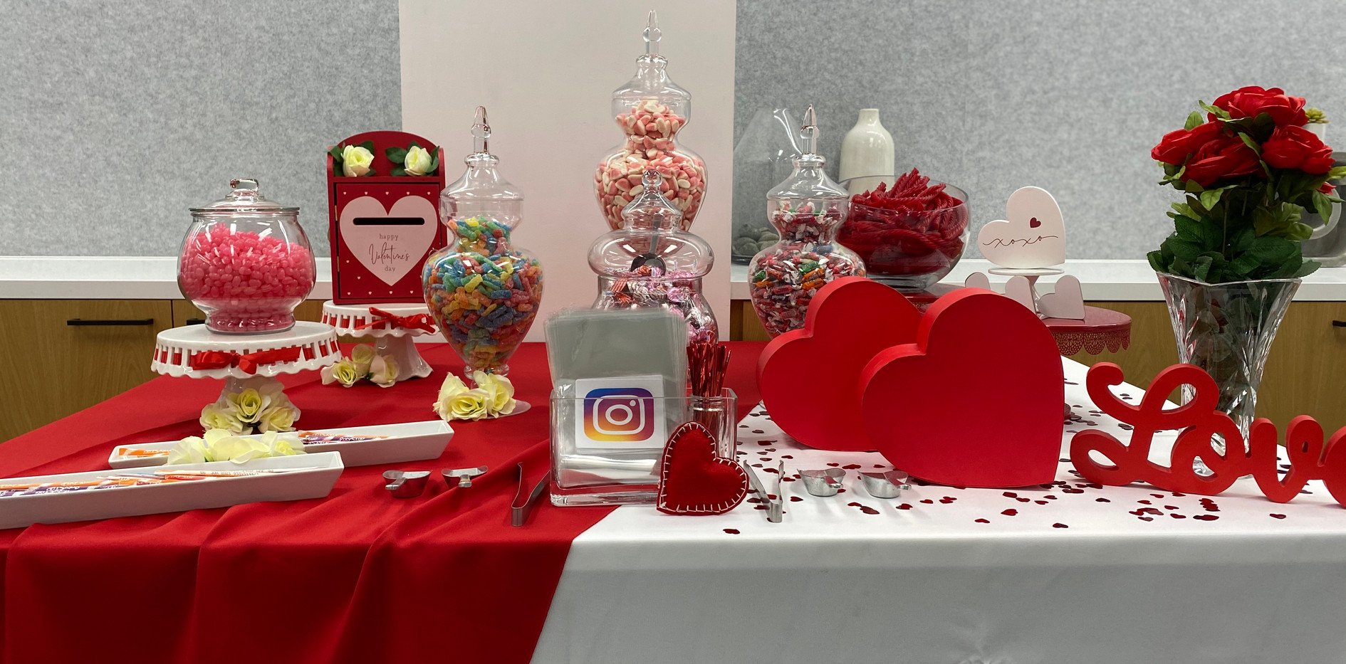 Valentine's Candy Buffet for Instagram