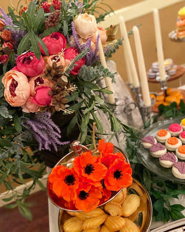 Ethereal and Wildflowers Wedding Dessert