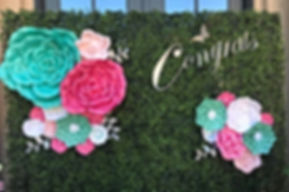 Boxwood Hedge Backdrop, Garden Themed Floral Backdrop