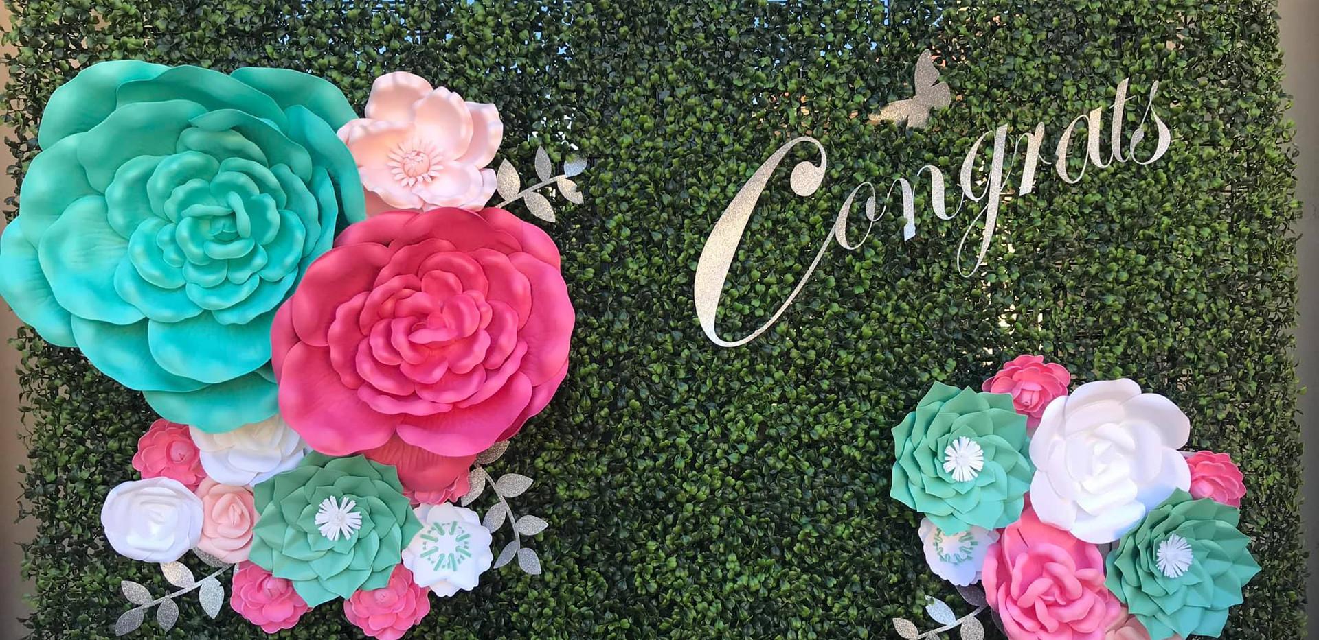 Garden Themed Backdrop