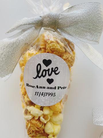 Anniversary Popcorn Favors