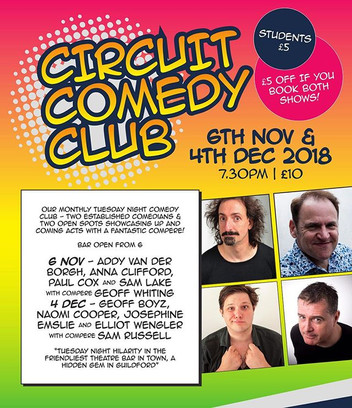 Circuit Comedy Club is back in Guildford