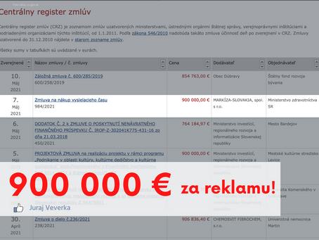 900 000 € za reklamu..