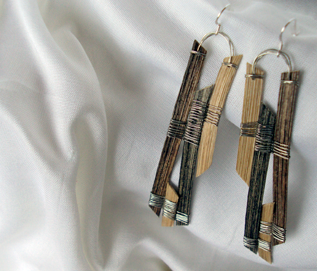 Long Anchor, Reed Earrings