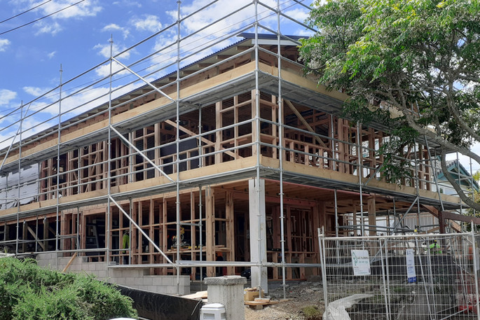 Residential scaffolding for a new build