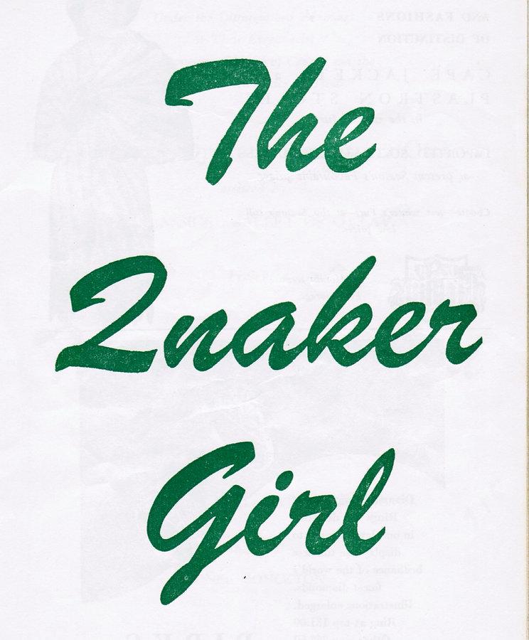 The Quaker Girl
