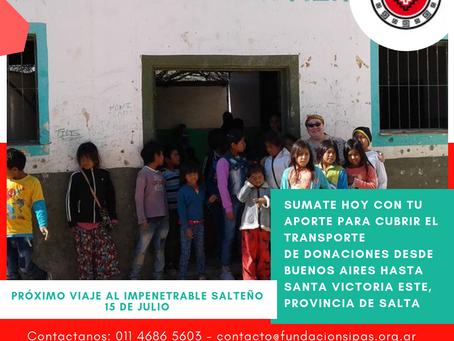 Inicia campaña para transportar donaciones al impenetrable salteño