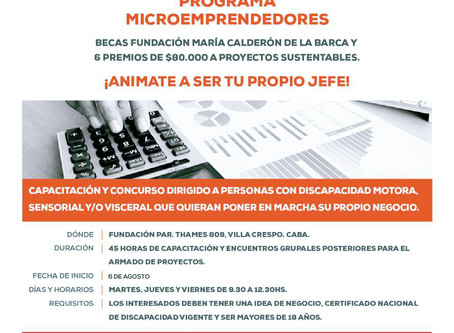 CAPACITACIÓN PARA MICROEMPRENDEDORES CON DISCAPACIDAD