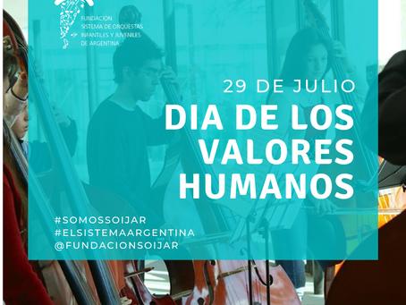 29 de julio: Día de los Valores Humanos
