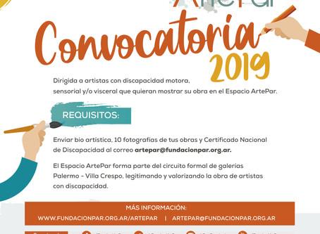 ESPACIO ARTEPAR MANTIENE ABIERTA SU CONVOCATORIA DURANTE 2019