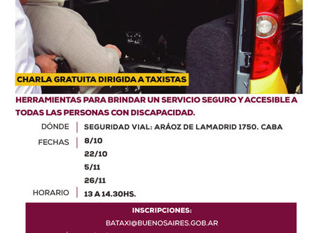 INSCRIPCIONES ABIERTAS: Fundación Par capacitará a taxistas de CABA en el transporte inclusivo