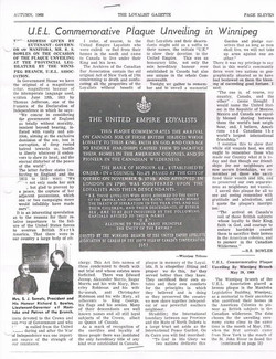 UEL Plaque Unveiling - Gazette