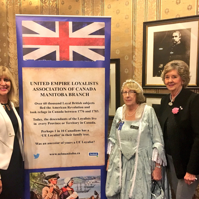 The Honourable Cathy Cox, Minister of Sport Culture and Heritage, our new banner, Mary and Her Honour the Honourable Janice C. Filmon C.M., O.M., Lieutenant Governor of Manitoba.