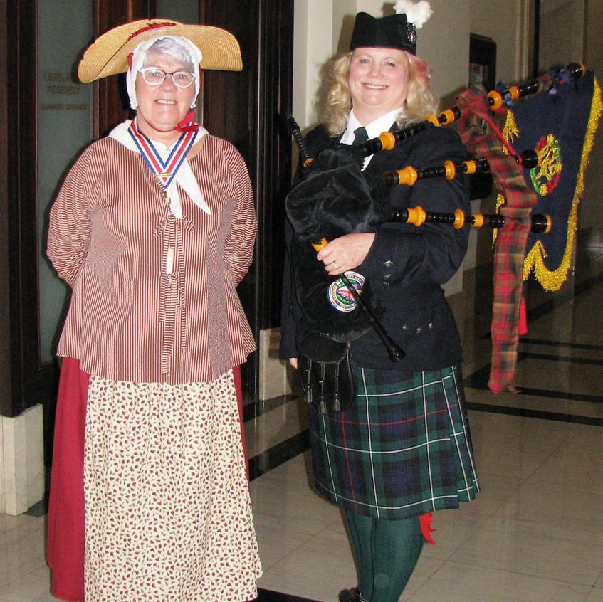 Dominion President Barb Andrew and Piper Corrine Stuart MacGregor