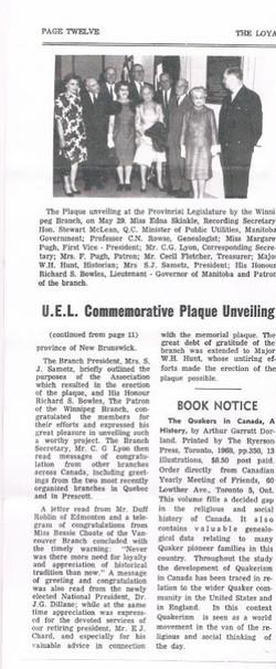 UEL Plaque Unveiling Cont'd