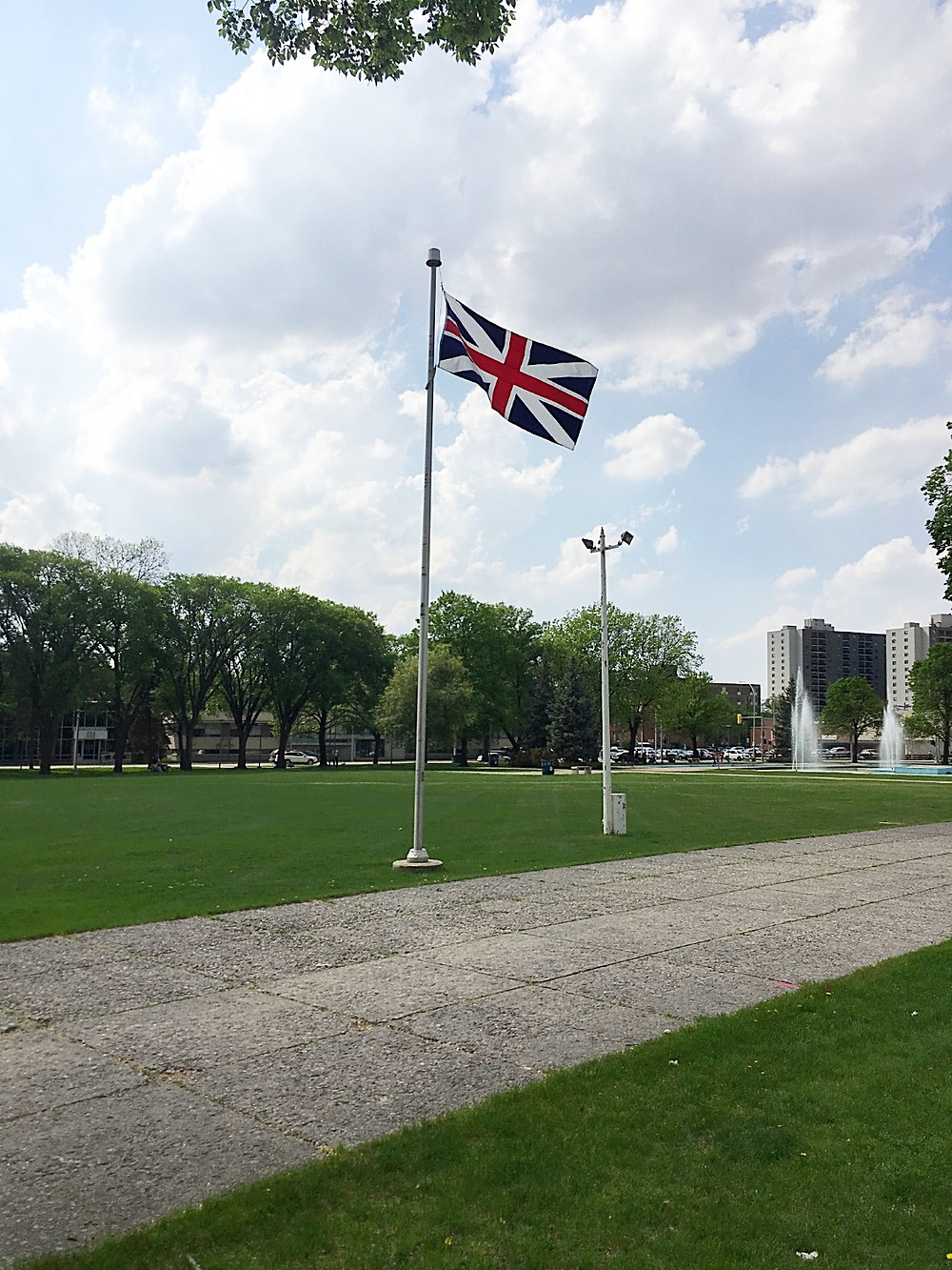 The Loyalist flag flying in Memorial Park