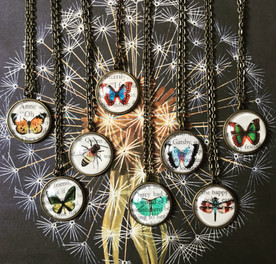 Butterflies and more on our Storybook Necklaces!
