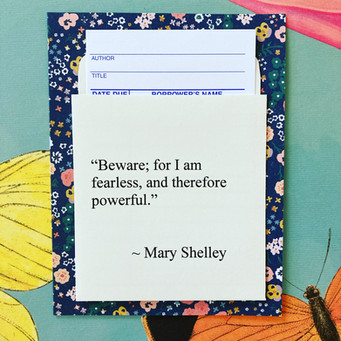 Library Quote Card