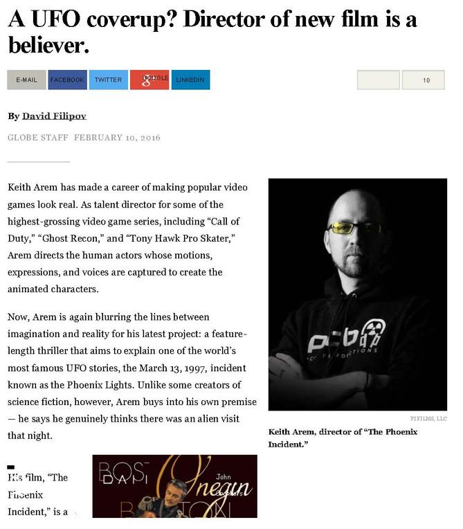 The Phoenix Incident: Boston Globe