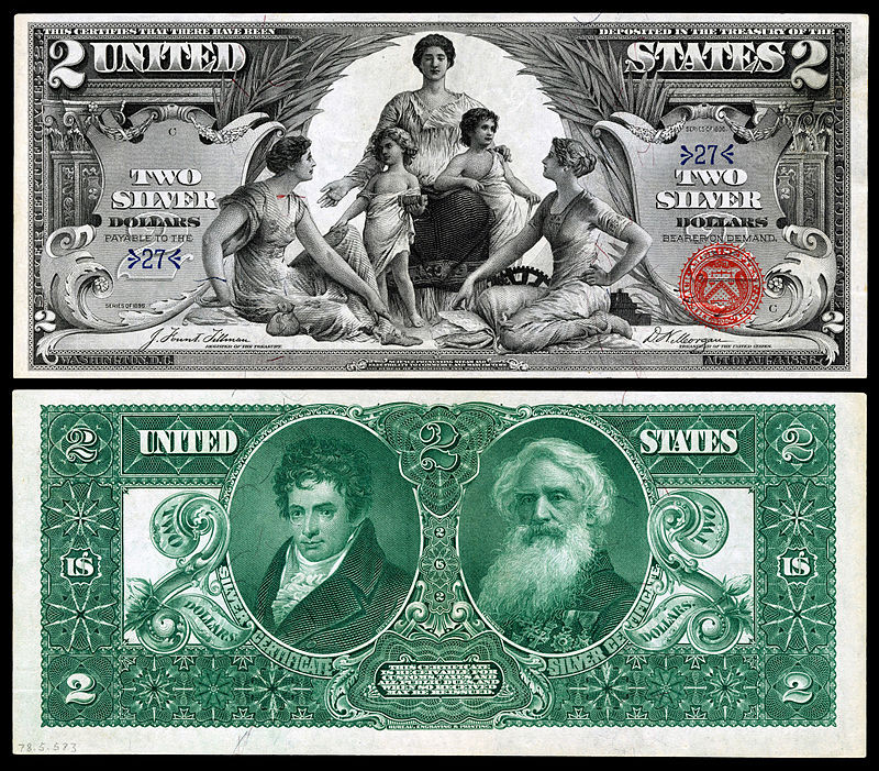 A Quick History of Dining Practices | $2 Silver Certificate, Series of 1896