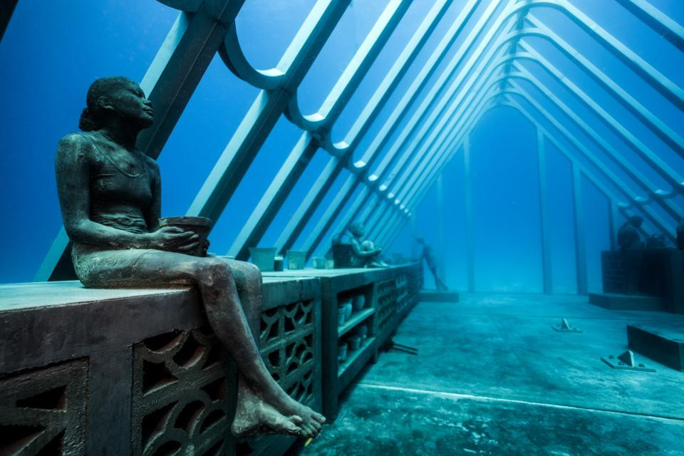 The Coral Greenhouse, MOUA, Great Barrier Reef in Australia by Jason deCaires Taylor