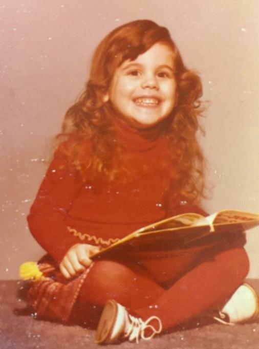 O'Brien reading, age four