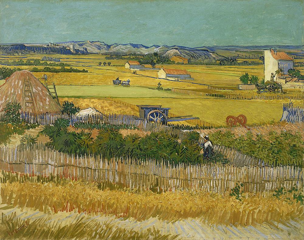 The Harvest (1888) by Vincent van Gogh