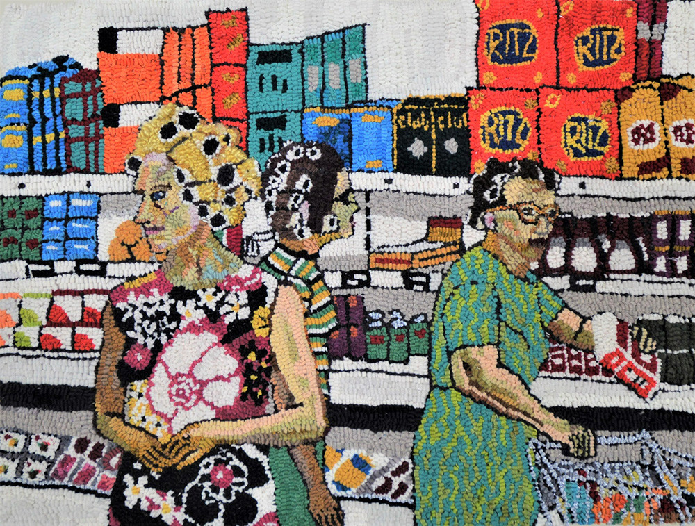 """""""Marceil, Cynthia, and Ruth at the Piggly Wiggly"""" by Mary Tooley Parker at The Untitled Space"""