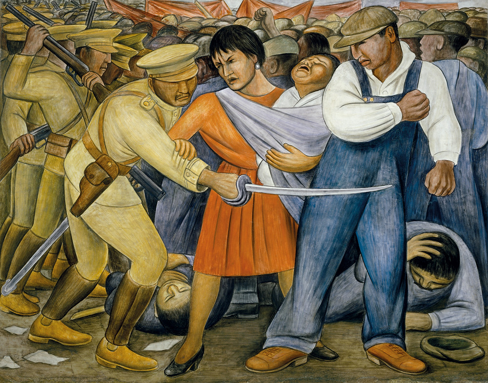 "The Intersection of Art and Activism for Social Change | ""The Uprising"" (1931) by Diego Rivera. Private collection, Mexico. © 2011 Banco de México Diego Rivera & Frida Kahlo Museums Trust, México, D.F./Artists Rights Society (ARS), New York. Photograph by Rafael Doniz"