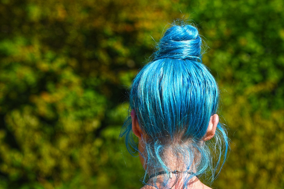 Blond Didn't Come From a Bottle: A short history of hair color | Girl with Blue Hair